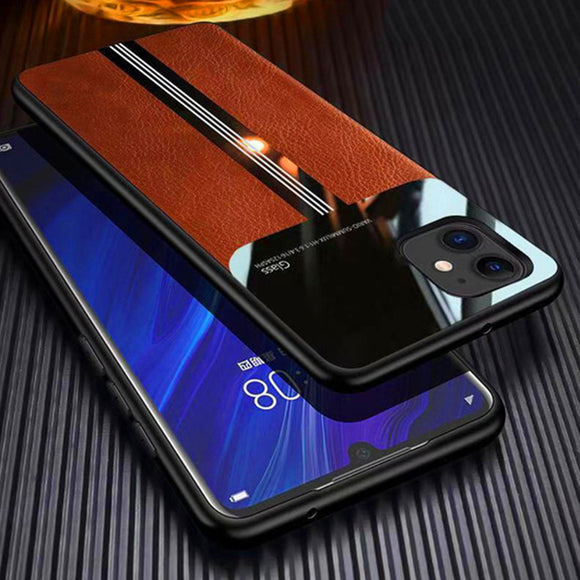 Hizada Luxury Shockproof Leather Silicone Case For iPhone 11/Pro/Max X XR XS MAX 8 7 6S 6/Plus