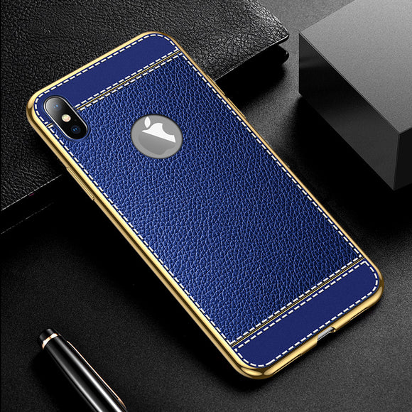 Hizada 2020 New Luxury Litchi Pattern Soft Silicone Case For iPhone 11/Pro/Max X XR XS MAX 8 7 6S 6/Plus
