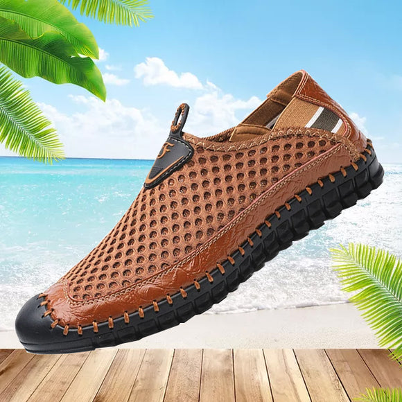 Hizada New Men's Summer Breathable Mesh Shoes