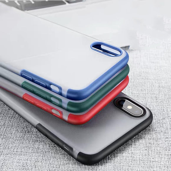 Ultra Slim Shockproof Clear Transparent Hard PC Cases For iPhone X XR XS MAX 8 7 6S 6/Plus