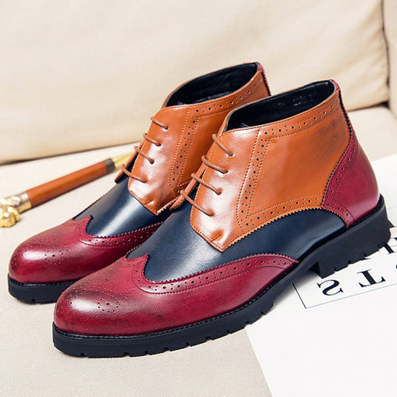 Fashion Men's Handmade Leather Dress Shoes