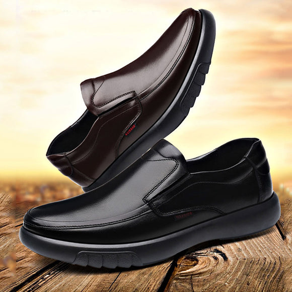 Fashion Men's Warm Fur Slip On Casual Shoes