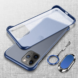 Fashion Ultra Thin Frameless Magnetic Ring Holder Case For iPhone 11 X XR XS MAX 8 7 6S 6/Plus