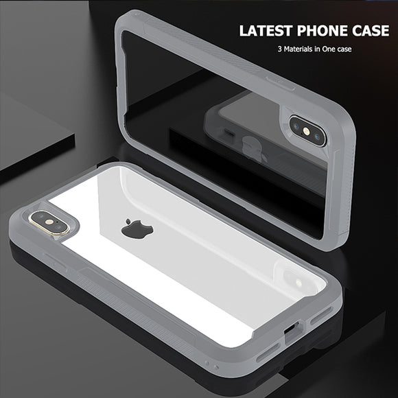 New Arrival PC + TPU Silicone Bumper Frame Shockproof Case For iPhone X XR XS MAX 8 7 6S 6/Plus