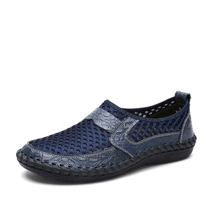 Hizada Fashion Men's Plus Size Breathable Mesh Non Slip Shoes
