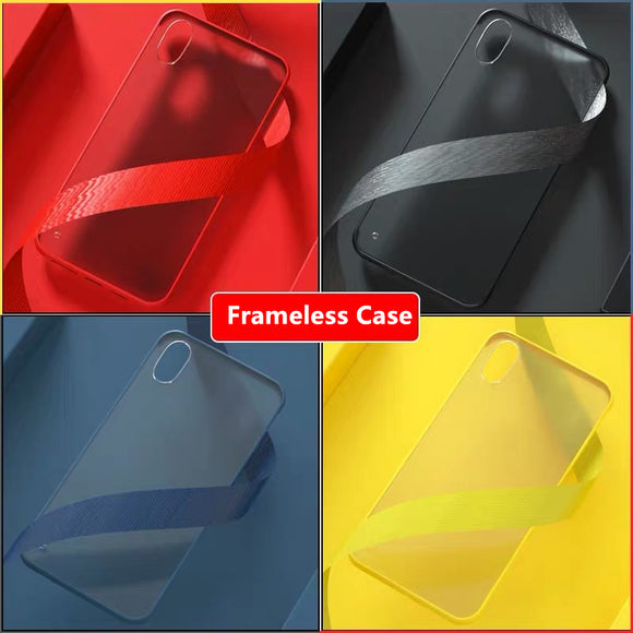 Ultra Thin Rimless Matte Phone Case For iPhone X XR XS MAX 8 7 6S 6/Plus