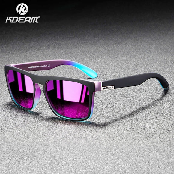 Hizada New Ultralight Frame Mirror Polarized Sunglasses