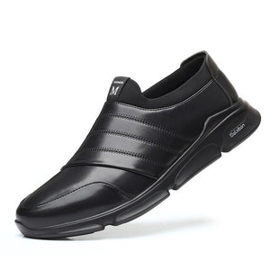 Fashion Men's Slip on Leather Sneakers Loafers