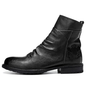 Men Vintage Mid-calf Side Zipper Cowboy Boots