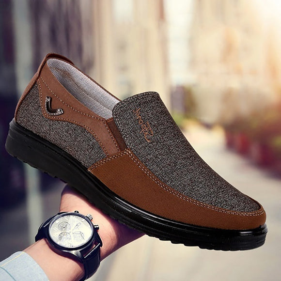 Large Size Men's Fashion Style Comfortable Flat Slip On Shoes