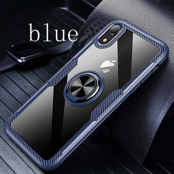 Luxury Ultra Thin Car Magnetic Ring Holder Cases For iPhone XS MAX XR X 8 7 6S 6/Plus