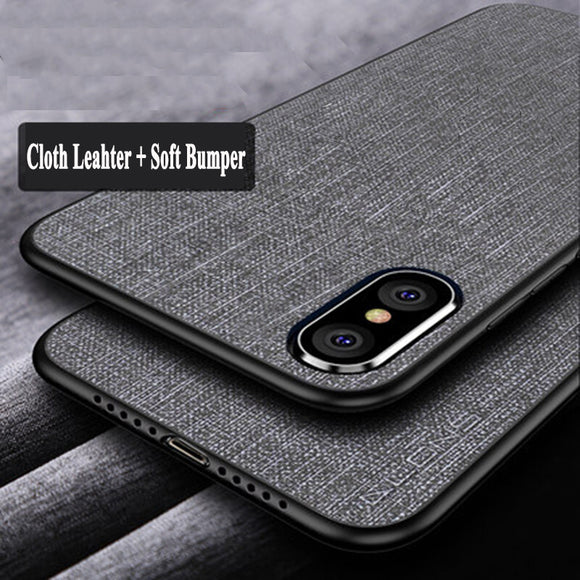Ultra Thin Fabric Canvas Phone Case For iPhone X XR XS MAX 8 7 6S 6/Plus