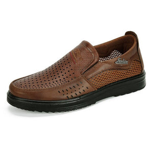 Hizada Men's Breathable Mesh Splicing Lightweight Casual Slip On Shoes