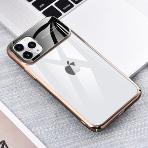 Ultra Thin Plating Clear Hard PC Cases Cover For iPhone 11/Pro/Max X XR XS MAX 8 7 6S 6/Plus