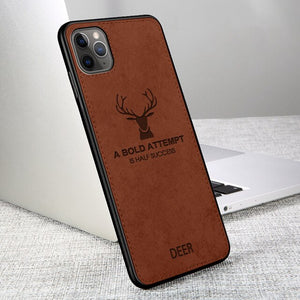 Luxury Ultra Thin Deer Cloth Phone Case For iPhone 11 Pro Max X XR XS MAX 8 7 6S 6/Plus