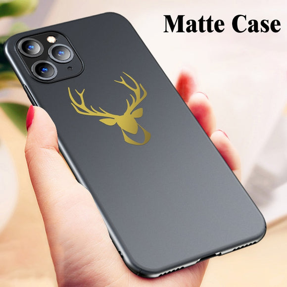 Luxury Ultra Thin Deer Pattern Matte Case For iPhone 11/Pro/Max X XR XS MAX 8 7 6S 6/Plus