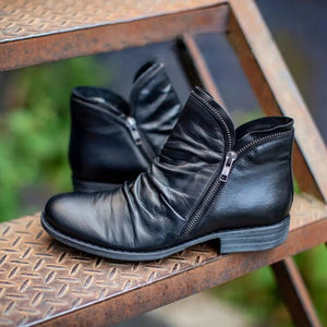 Women's Casual Fashion Low Heel Winter Boots