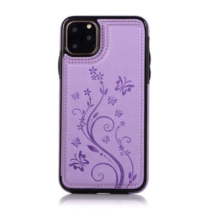 Luxury Flower Pattern Leather Case For iPhone 11/Pro/Max X XR XS MAX 8 7 6S 6/Plus
