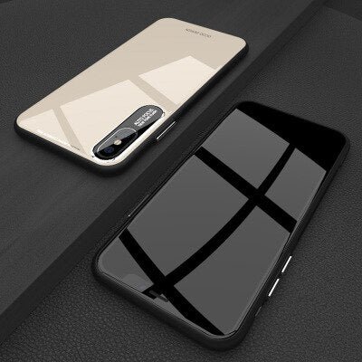 Luxury Glossy Porcelain Protective Phone Case For iPhone X XR XS MAX 8 7 6S 6/Plus