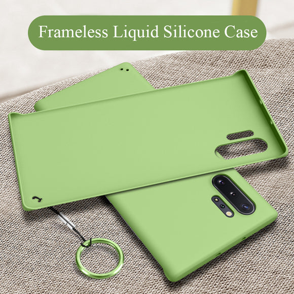Ultra Thin Liquid Silicone Matte Frameless Case For Samsung Note 10/Plus Note 9 S10 S9/Plus With FREE Ring