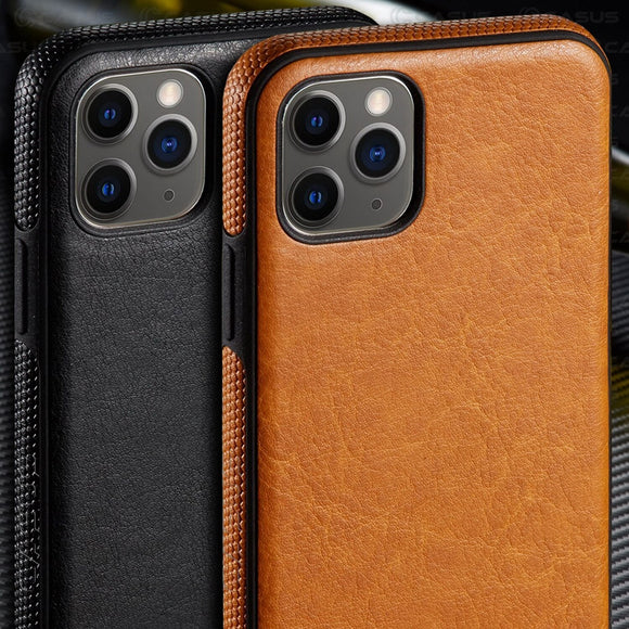 Luxury Ultra Thin Leather Back Cover For iPhone 11/Pro/Max X XR XS MAX 8 7 6S 6/Plus
