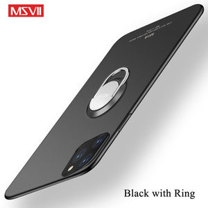 Ultra Slim Matte Magnetic Ring Holder Case For iPhone 11 Pro Max X XR XS MAX 8 7 6S 6/Plus