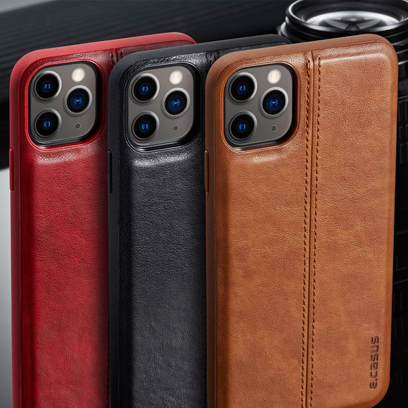 Hizada Luxury Ultra Thin Shockproof Leather Back Cover Case For iPhone 11/Pro/Max X XR XS MAX 8 7 6S 6/Plus