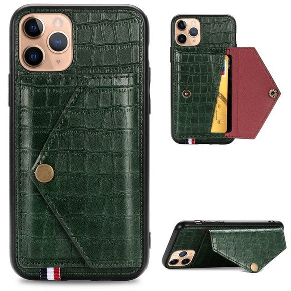 Hizada 2020 Fashion New Leather Card Slot Cover For iPhone 11/Pro/Max X XR XS MAX 8 7 6S 6/Plus