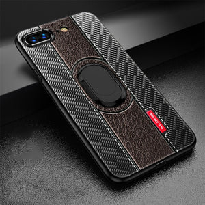 Luxury Magnetic Suction Bracket Finger Ring Soft TPU Cover For iPhone X XR XS MAX 8 7 6S 6/Plus