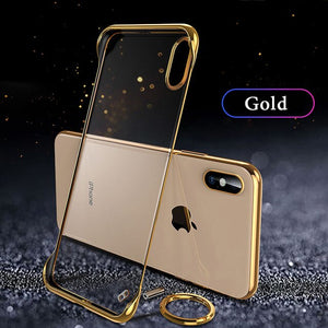 Ultra Thin Frameless Clear Phone Case For iPhone X XR XS MAX 8 7 6S 6/Plus