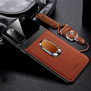 New Shockproof Leather + Hard PC Magnetic Ring Holder Case For Samsung For Samsung S20/Plus/Ultra S10/Plus/E Note 10/Plus/9/8 S9 S8/Plus With FREE Strap(Buy 2 Get 10% off, 3 Get 15% off)