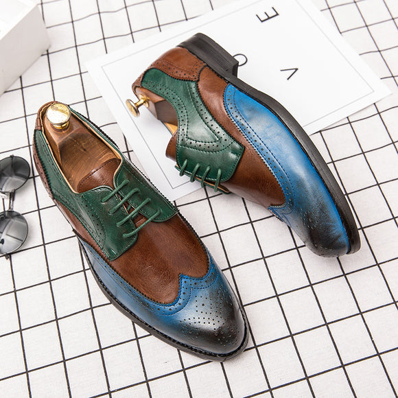 Fashion Men's Hollw Brogue Business Dress Formal Shoes