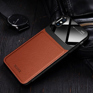 Luxury Ultra Slim Shockproof Leather Glass Case For iPhone X XR XS MAX 8 7 6S 6/Plus(Buy 2 Get 10% off, 3 Get 15% off)