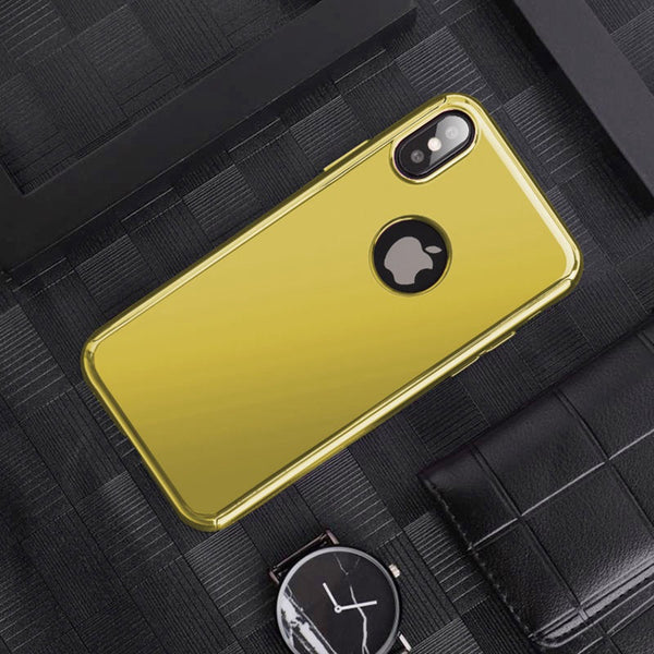 Plating Mirror 360 Full Cover For iPhone X XR XS MAX 8 7 6S 6/Plus