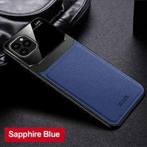 Luxury Ultra Slim Shockproof Leather Glass Case For iPhone 11/Pro/Max X XR XS MAX 8 7 6S 6/Plus