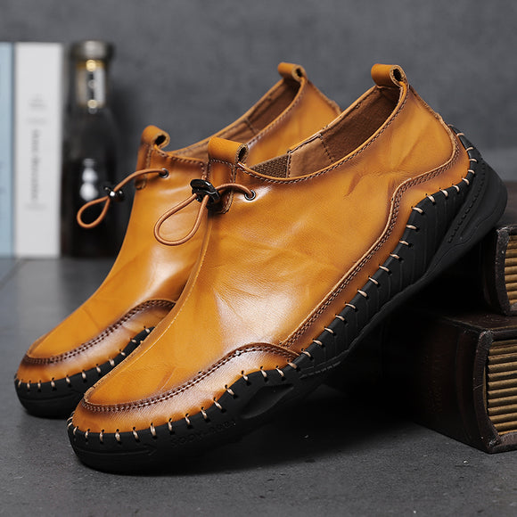 New Men's Handmade Soft Leather Loafers Comfort Walking Shoes