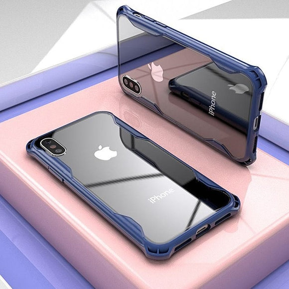 Hybrid Airbag Shockproof Clear Case For iPhone X XR XS MAX 8 7 6S 6/Plus