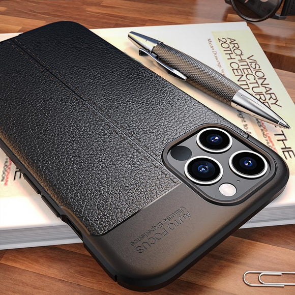 Luxury Ultra Thin Shockproof PU Silicone Soft Case For iPhone 11/Pro/Max X XR XS MAX 8 7 6S 6/Plus
