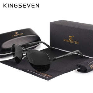 Hizada Men's Vintage Aluminum UV400 Polarized Sunglasses