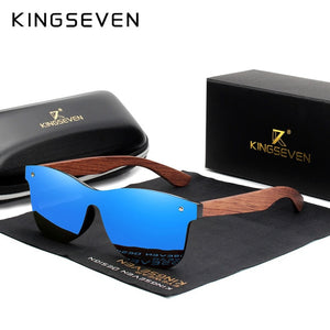 Hizada New Men's Natural Wooden Polarized Sunglasses