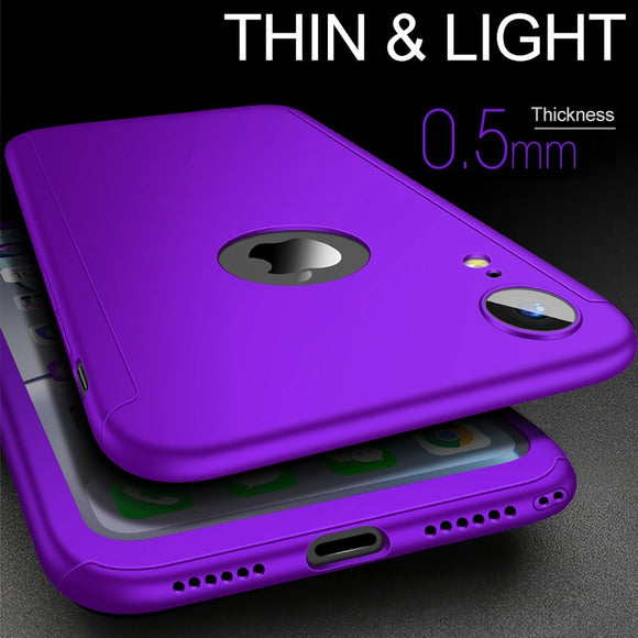 Luxury 360 Full Protection Case For iPhone X XR XS MAX 8 7 6S 6/Plus 5 With FREE Screen Film