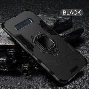 Shockproof Heavy Duty Anti-knock PC + TPU Cover With Holder For Note 10 Samsung S10 S10 Plus S10E Note 9/8 S9 S8/Plus