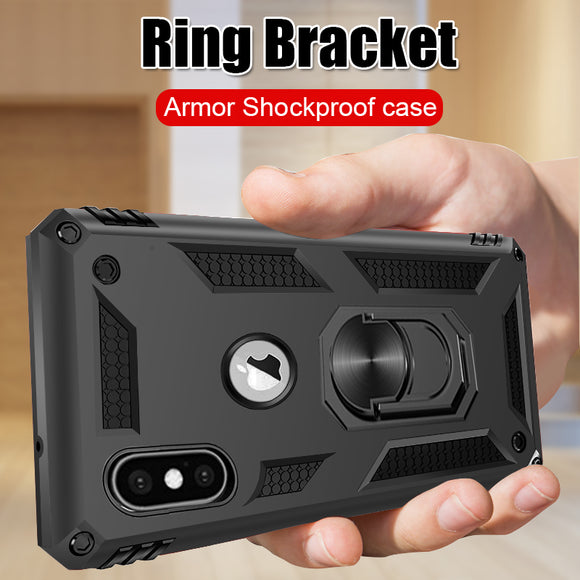 Luxury Silicone Bumper Shockproof Magnetic Ring Holder Case For iPhone 11 X XR XS MAX 8 7 6S 6/Plus