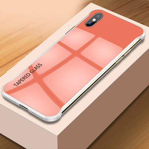 Ultra Slim Frameless Tempered Glass Case For X XR XS MAX 8 7 6S 6/Plus