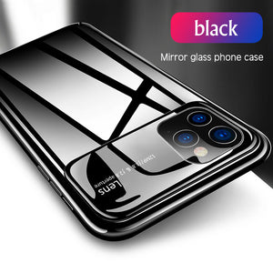 HOT SALE Green Color Tempered Glass Mirror Case For iPhone 11/Pro/Max X XR XS MAX 8 7/Plus