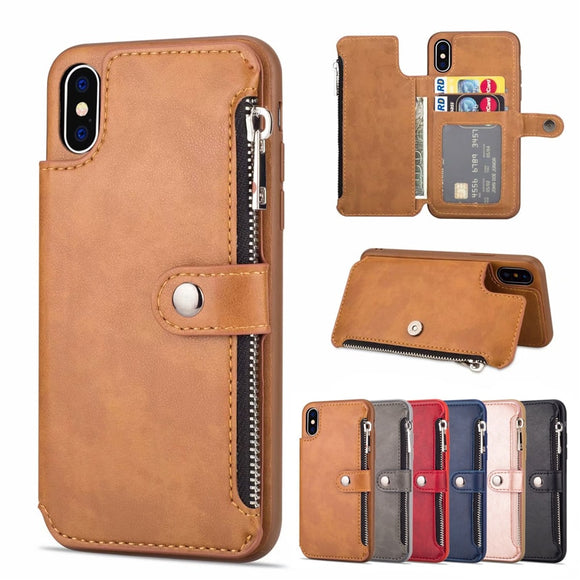 Luxury PU Leather Multi Card Holders Case For iPhone 11/Pro/Max X XR XS MAX 8 7 6S 6/Plus