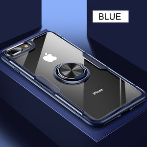 Luxury Shockproof Silicone Magnetic Car Holder Case For iPhone X XR XS MAX 8 7 6S 6/Plus