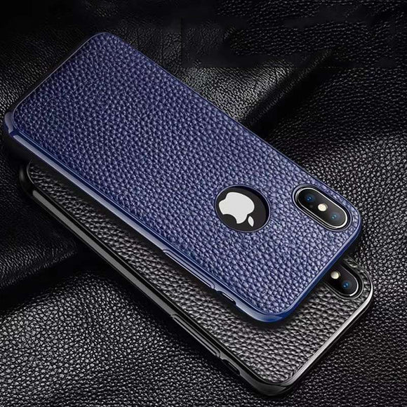 Luxury Ultra Thin Shockproof Silicone Leather Case For iPhone X XR XS MAX 8 7 6S 6/Plus