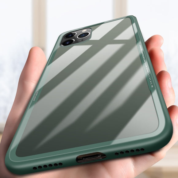 Hizada Fashion Tempered Glass Case For iPhone 11/Prro/Max X XR XS MAX 8 7 6S 6/Plus