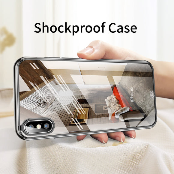 Luxury Ultra Slim Silicone Soft Shockproof Transparent Case For iPhone X XR XS MAX 8 7 6S 6/Plus